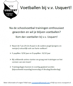 Flyer schoolvoetbal